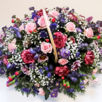 Basket Pink and Purples