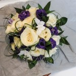 Brides Purple and Ivory HandTied