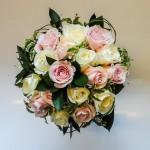 Brides Hand Tie Pink White Roses