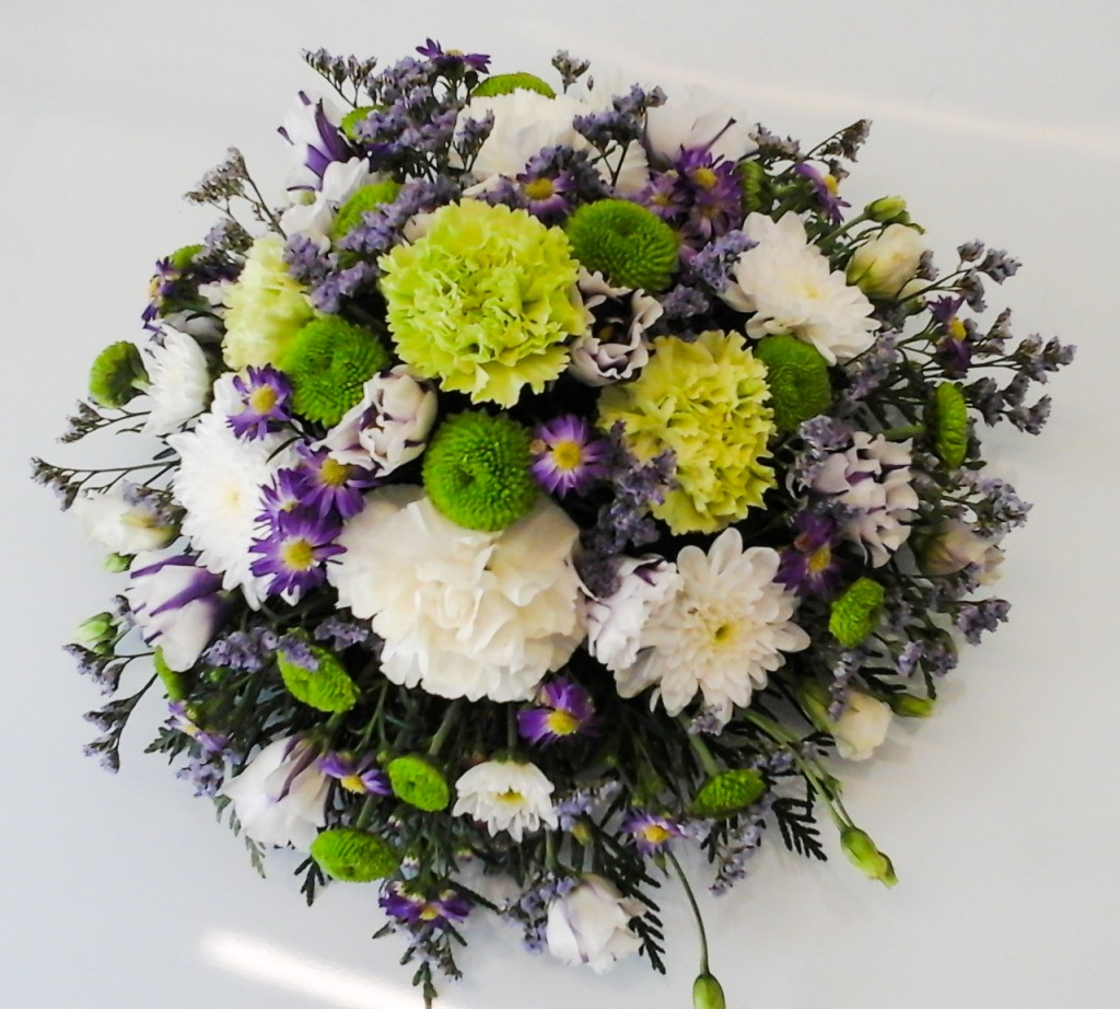 Lilac, White, Green Posy, Mixed Flowers, Radcliffe, Florist, Flowers