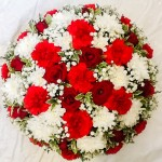 Loose Red White Posy Pad