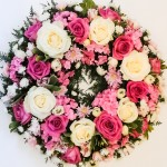 1 Loose Pink and White Wreath