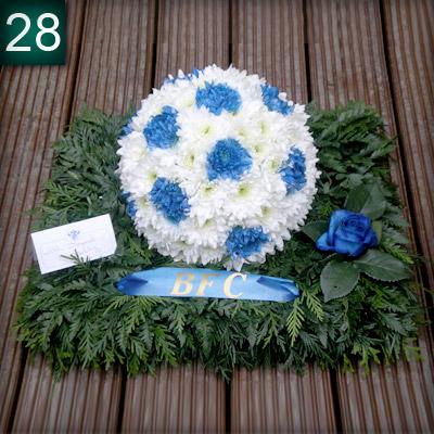 Football, Sports tribute, Flowers, Florist, Radcliffe, Bury