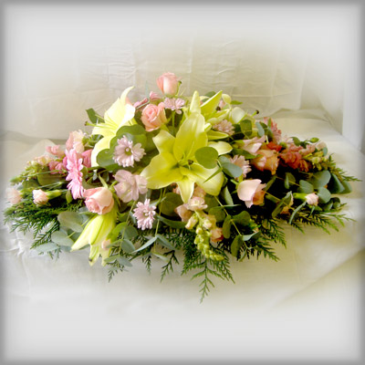 Pastel Pinks, Lemons, Funeral Radcliffe Florist