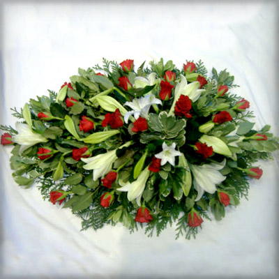 Red Roses, Lilies, Radcliffe Florist, Flowers, Funeral