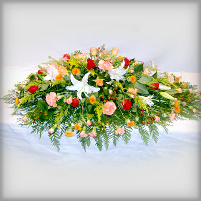 Lilies, Roses, Carnations, Funeral, Radcliffe Florist, Flowers