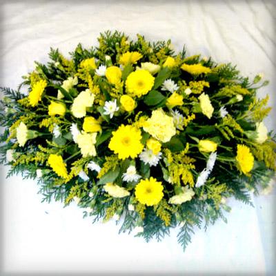 Oasis Spray | Yellow Splash of White, Funeral, Radcliffe Florist