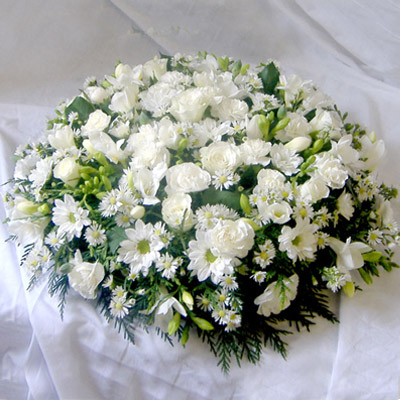 Loose Posy, White, Mixed, Radcliffe Florist, Flowers