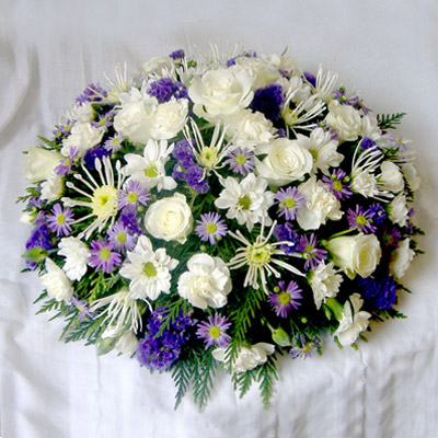 Loose Posy, White, Purple, mixed, Lilac Radcliffe Florist, Flowers