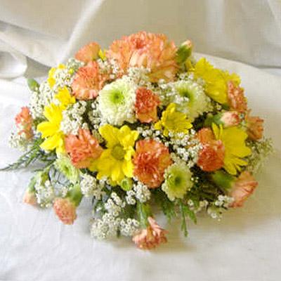 Orange, Yellow, Blocked Posy, Mixed, Radcliffe Florist, Flowers