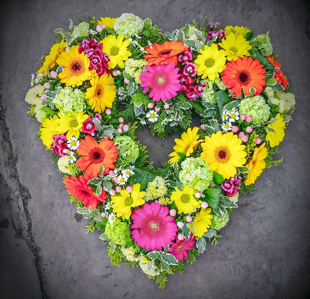 Open Heart | Tribute | Funeral | Florist | Radcliffe, Gerberas