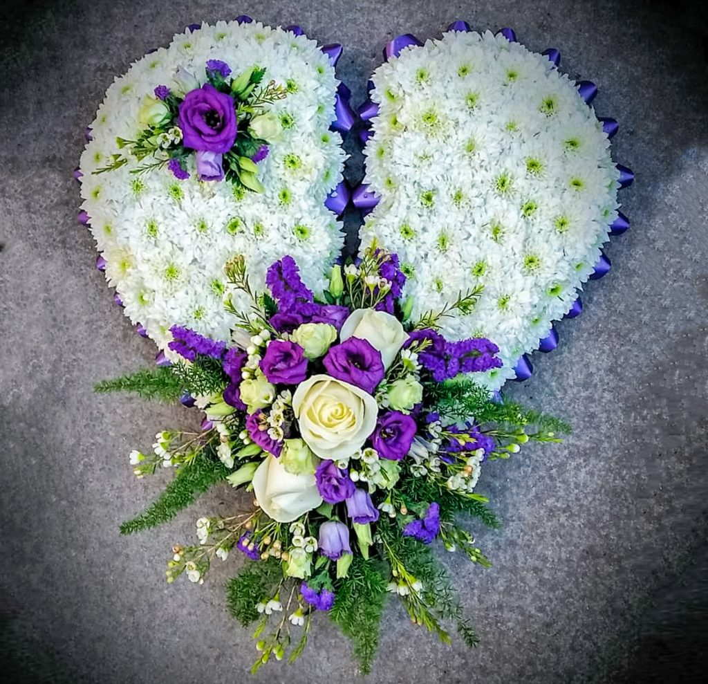 Blocked Broken Heart Funeral, Radcliffe Florist, Fresh Flowers