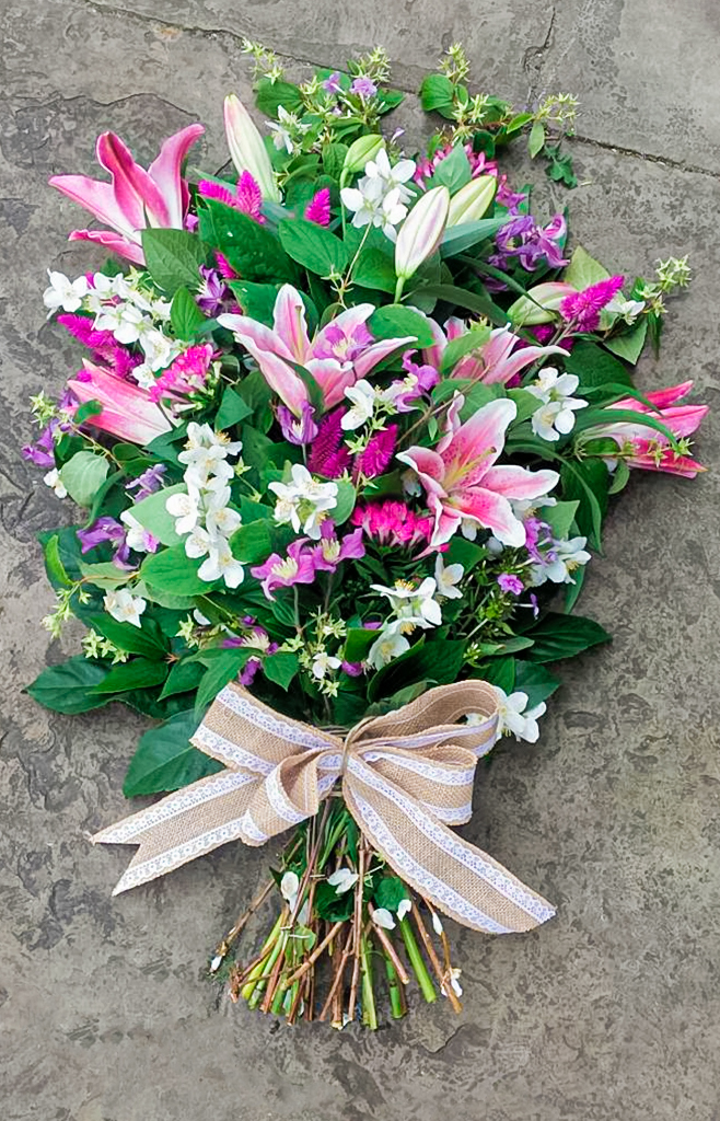 Open Spray Pink, White, Lilac, Radcliffe Florist, Flowers