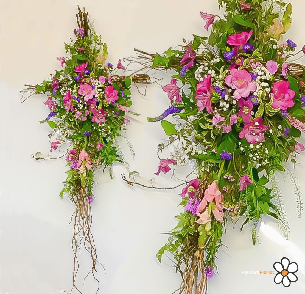 Cross Rustic Willow, Funerals, Palmers Florist, Fresh Flowers