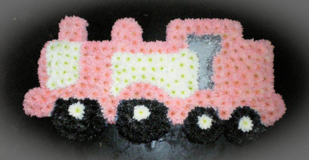 Train, Funeral tribute, Flowers, Florist, Radcliffe, Bury