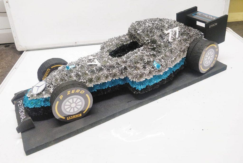 F1 Racing Car, Funeral tribute, Flowers, Florist, Radcliffe, Bury