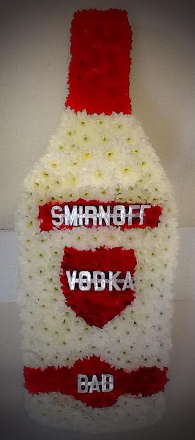 Smirnoff Vodka, funeral, flowers, bury, Radcliffe, drink