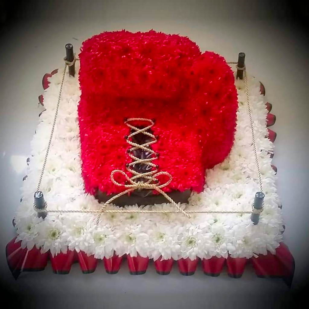 Boxing Glove, Sports tribute, Flowers, Florist, Radcliffe, Bury