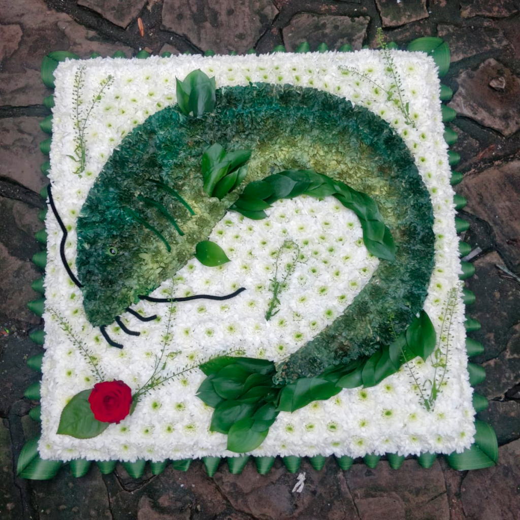 Cat Fish, Flowers, Funeral tribute, Radcliffe, Bury, Florist