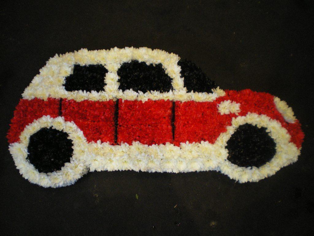 Car, Funeral tribute, Flowers, Florist, Radcliffe, Bury