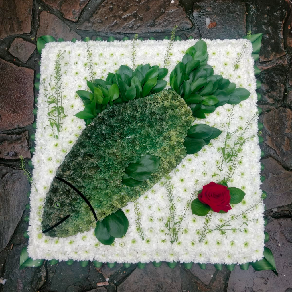 Fish, Flowers, Funeral tribute, Radcliffe, Bury, Florist
