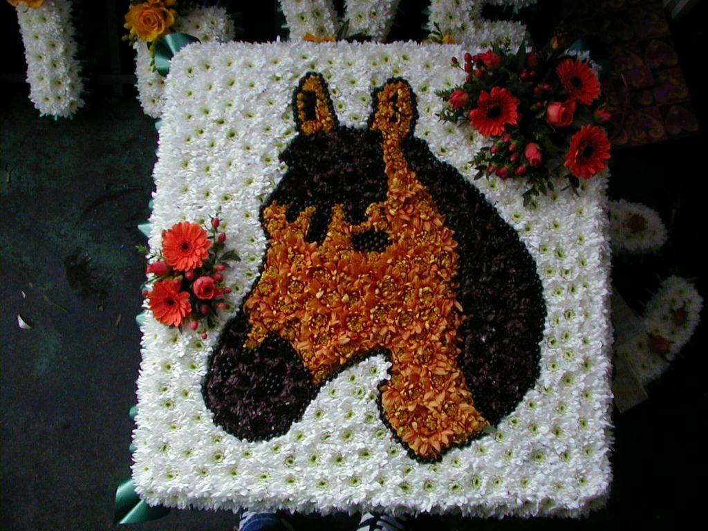Funeral, Tribute, Horse head, Flowers, Bury, Radcliffe