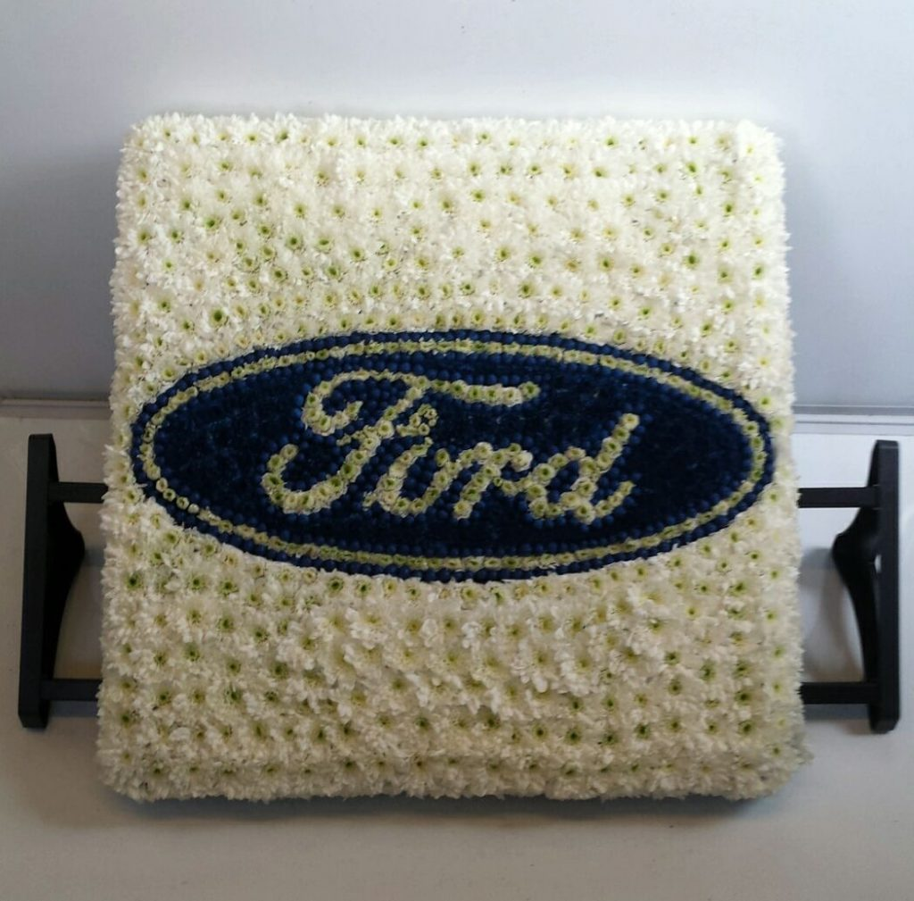 Ford Badge, Funeral tribute, Flowers, Florist, Radcliffe, Bury