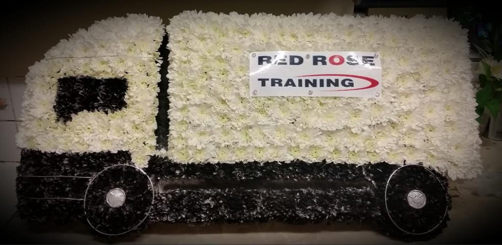 Truck, Funeral tribute, Flowers, Florist, Radcliffe, Bury