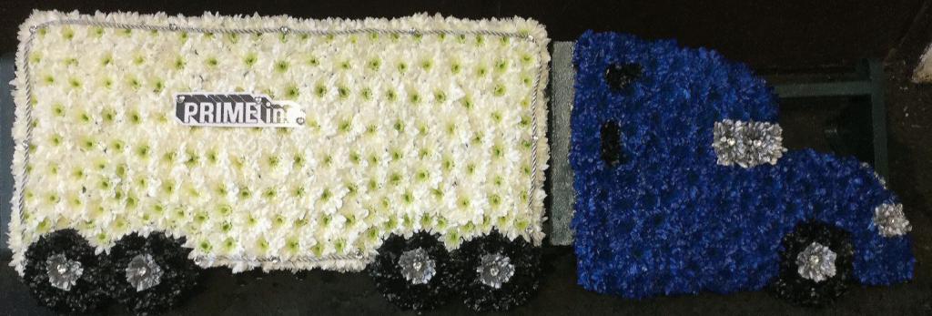 Lorry, Funeral tribute, Flowers, Florist, Radcliffe, Bury