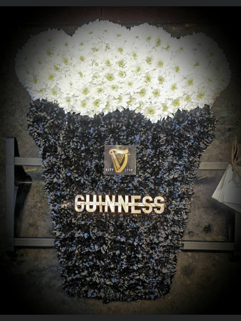 Guinness tribute, funeral, flowers, bury, Radcliffe,
