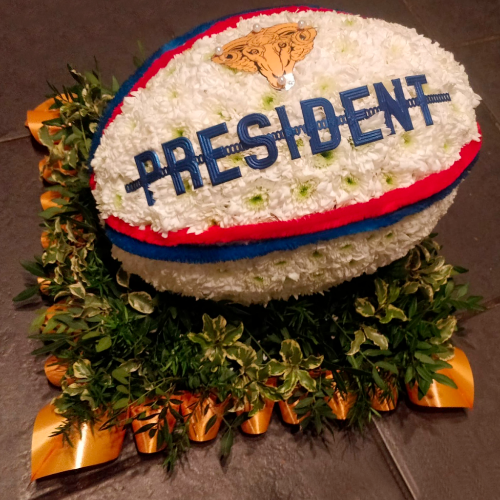 Rugby Ball, Sports tribute, Flowers, Florist, Radcliffe, Bury