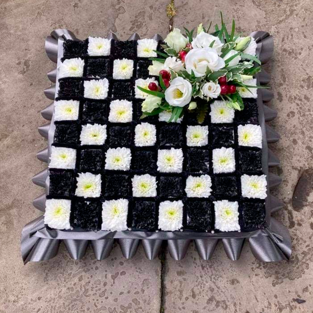 Chess Board, Funeral Tribute, Flowers, Florist, Radcliffe, Bury
